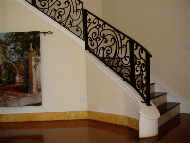 Welding Ornamental Metal Wrought Iron Stair Railings Railing
