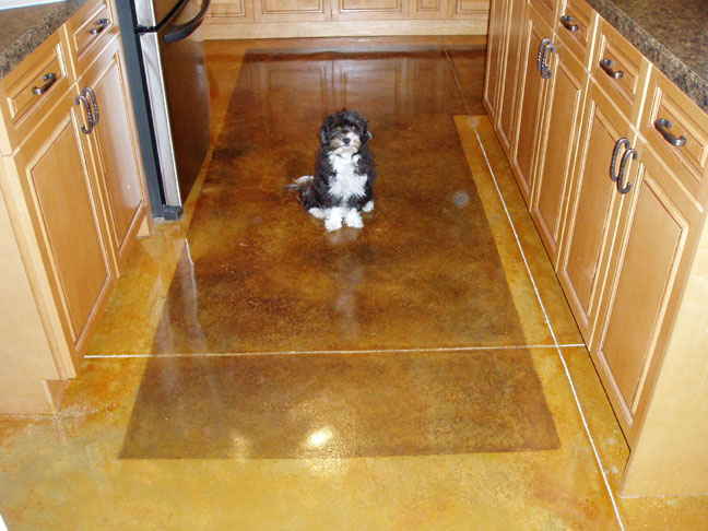 Acid staining your own concrete cement floors for How to clean scored concrete floors