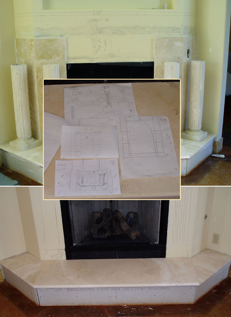 designing and pre planning your travertine marble or granite