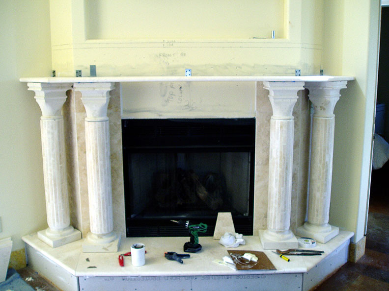 Limestone fireplace pictures
