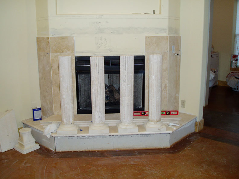 travertine marble fireplace surround images