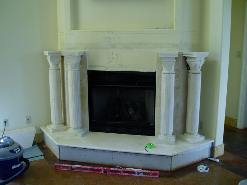 travertine fireplace mantel pictures