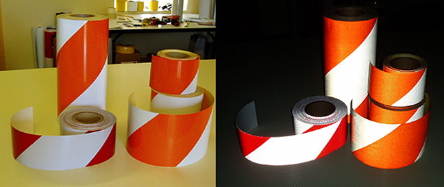 striped reflective tape