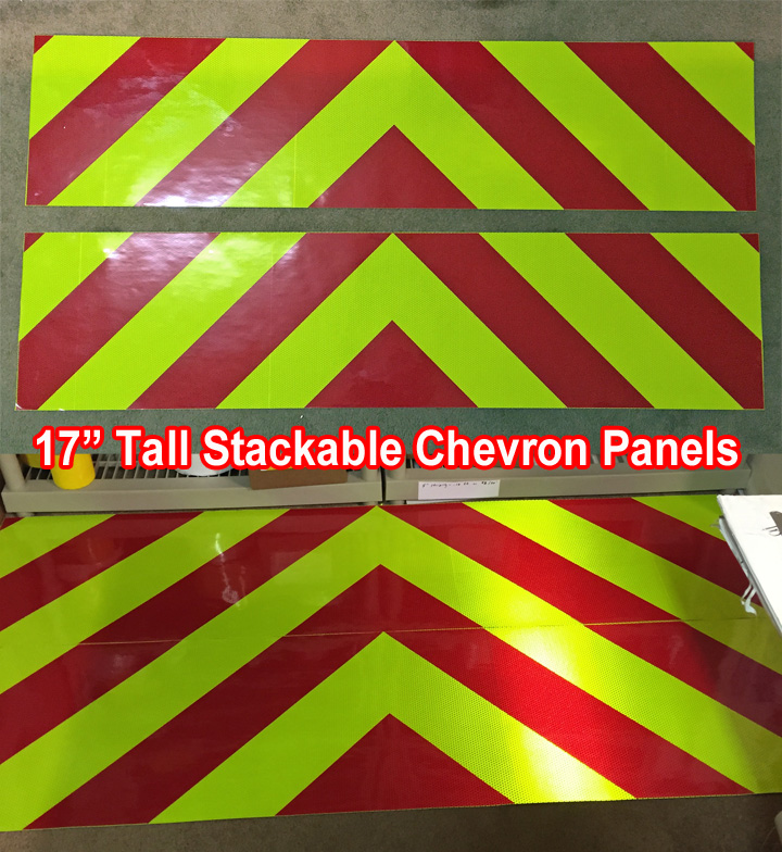 reflective chevron panels