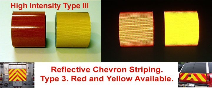 high intensity type 3 chevron tape