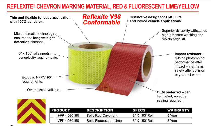 V98 Conformable Reflexite Tape