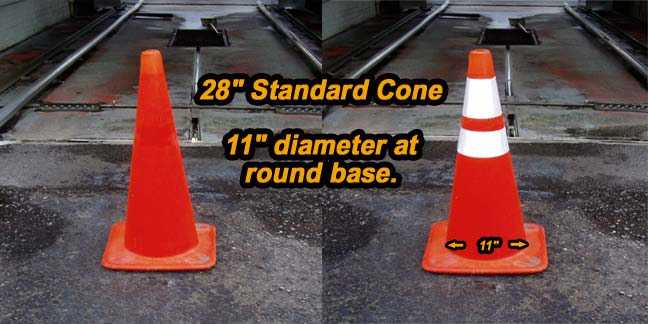 28 inch cone collars