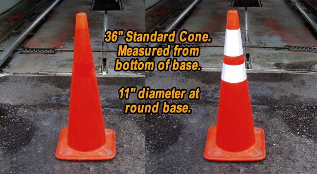 36 inch cone collars