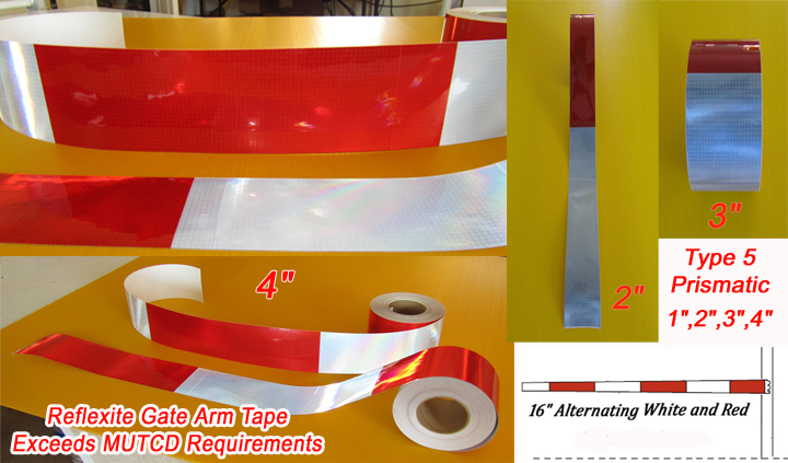 rail gate arm reflective tape