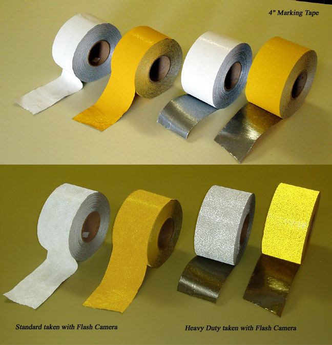 2 Inch Or 4 Inch Pavement Marking Tape Parking Lot Floor