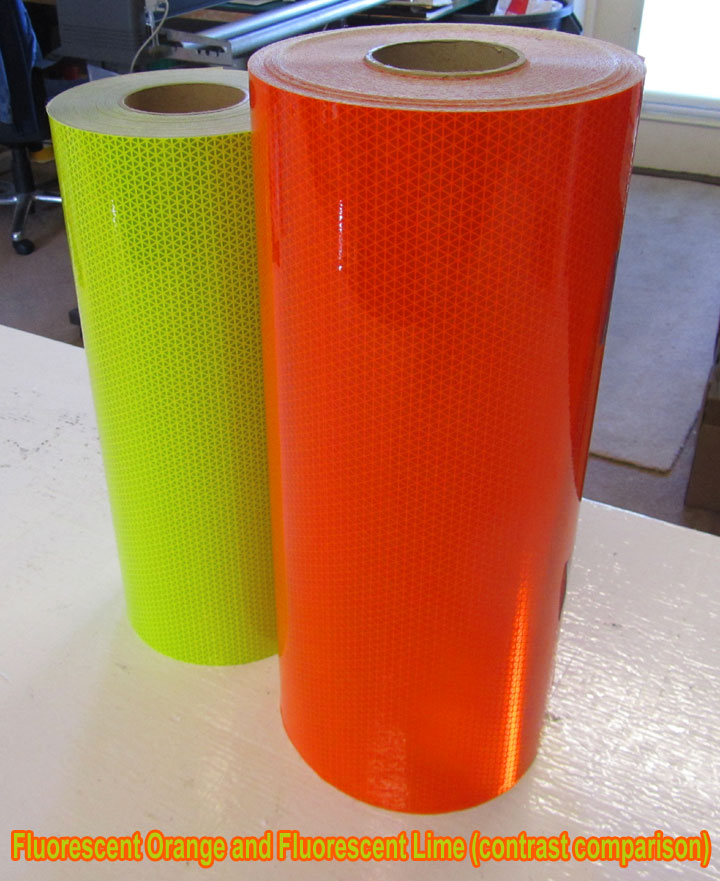 reflective fluorescent orange tape