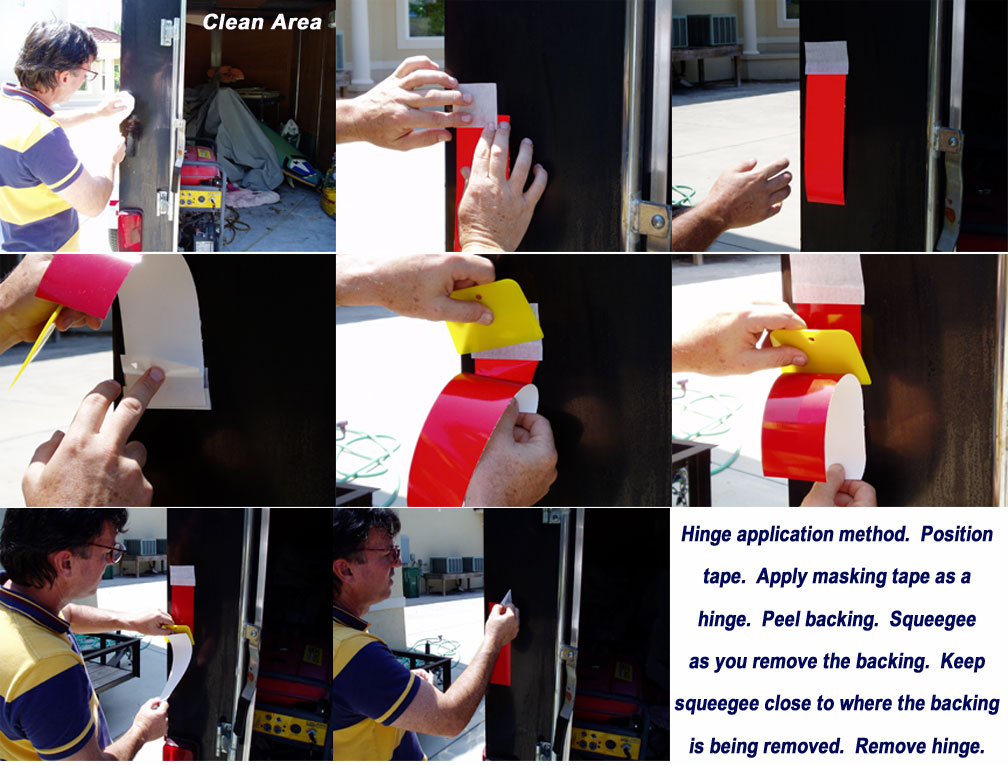 reflective tape application instructions